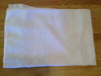 "LIGHT PINK LINEN TABLE CLOTH 62"" by 48"""