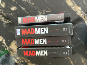 Mad Men seasons 1-4 on DVD