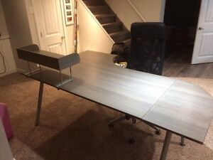 IKEA Desk and Cabinets and Chair