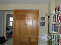 Antique Three-Piece Armoire/Living Room Cabinet