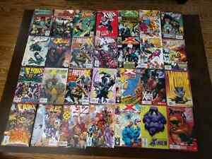 28 related X-MEN comics. EXILES, CABLE,X-FACTOR,WOLVERINE,FACTOR