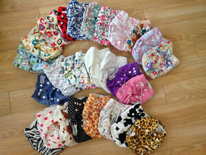Pocket cloth diapers- Girl Lot