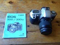 Canon EOS 500 Film Camera + Instructions