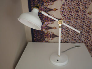 IKEA stylish retro RANARP adjustable desk lamp white/ gold