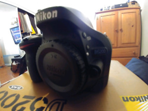 Nikon D5200 24MP DSLR & 2 lenses