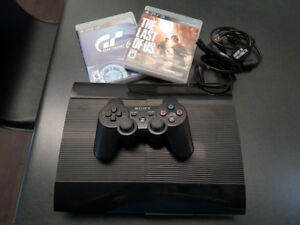 PS3 500GB Perfect Condition! Console, Controller, 2 Games