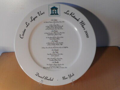 Dish Porcelain Villeroy et Boch Rotonde Casino Lyon Green Daniel Boulud New York