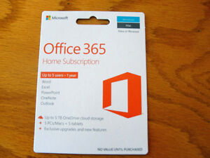 Microsoft Office 365 Home subscription (up to 5 users) DEAL