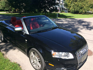2008 Audi S4 Red Leather Convertible