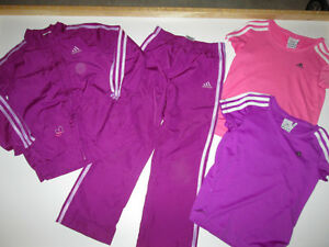 Girls Clothing Lot #4 - size 6/7 Adidas in Purple