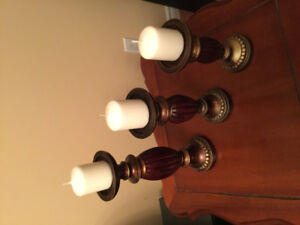 Set of  3 candleholders  in Windsor ontario