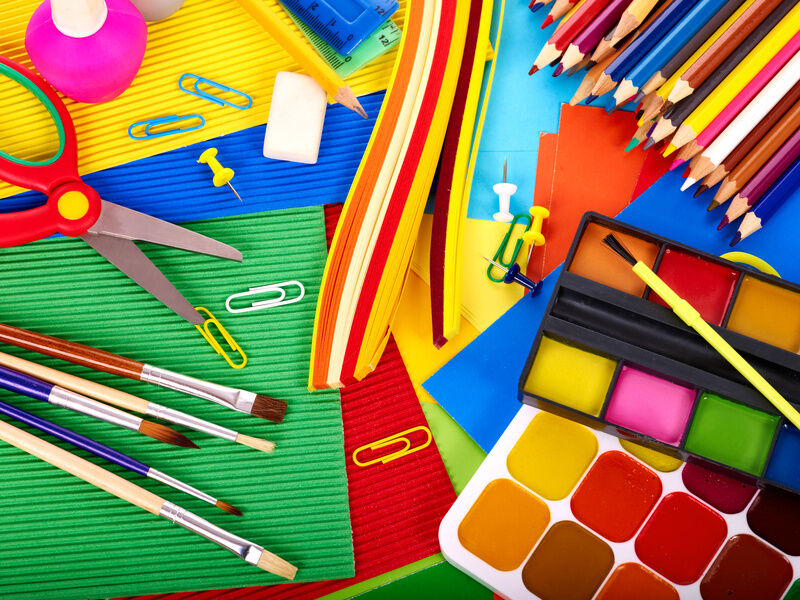 Essential art supplies for your elementary school child ebay for Children s arts and crafts supplies