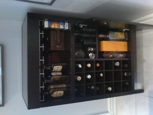 Faux leather sectional, bar storage unit for sale best offer
