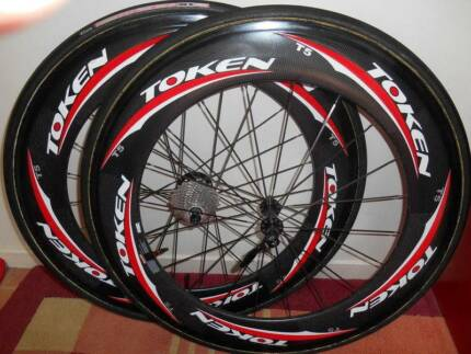 Token T5 Road Bike 80 cm Carbon Wheels 700c Tubular No Cassette