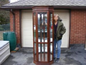 STUNNING LARGE DISPLAY CABINET LIGHTED EXCELLENT