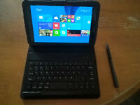 Mint Dell Venue Pro 8 with case and keyboard active pen