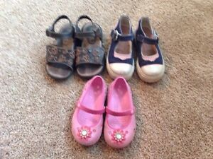 Lot of Size 9 Girls Shoes / Sandals / Boots