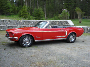 1968 Mustang Convertible with collector plates