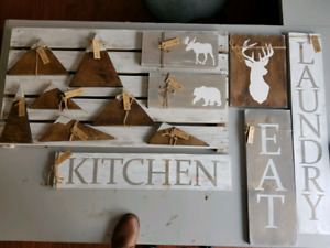 Rustic wood signs