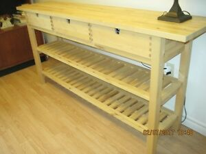solid birgh high desk