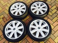 "Genuine 17"" BMW Mini Cooper S Clubman ""Crown"" Refurbished Alloy wheels & excellent 205/45/17 Tyres"