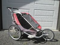 Double Chariot with bike attachment for sale