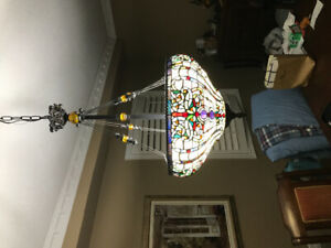 Tiffany lamp gorgeous with jewels.