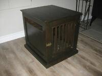 Meuble cage pour chien