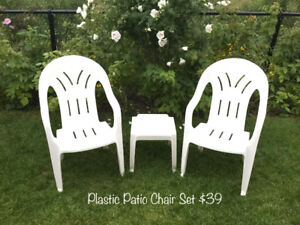 Patio Furniture - Chairs & Lounge Chairs + Decorations