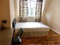 HUGE FURNISHED MODERN DOUBLE BEDROOM AVAILABLE IN EAST LONDON BOW ROAD STATION 2MINUTES *200PCW*
