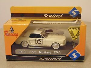 Solido 1965 Ford Mustang 1/43 Scale in Display Case