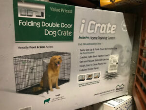 Large dog crate, 42Lx28Wx30H inches, used, $75