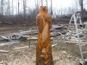 Hand  chainsaw carved  BEAR