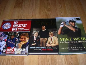 Books - Gretzky, Esposito, Beliveau, Weir, Ali, Cherry, etc. Windsor Region Ontario image 2