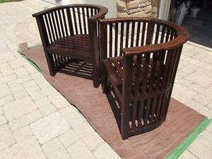 Upside Down Arm Chairs Stratford Kitchener Area image 2