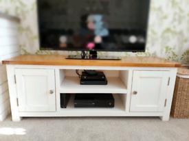 Solid Wood Oak TV Unit