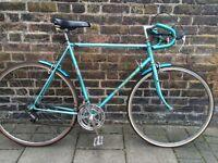 Vintage Peugeot Road Bike In Green