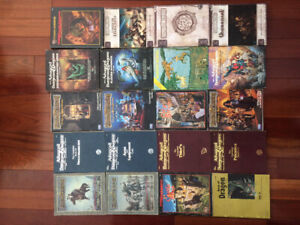 Dungeons and Dragons RPG book collection.