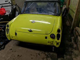 MG midget yellow tax and mot excempt