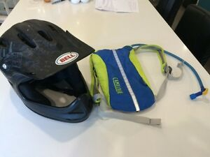 Youth Downhill Helmet and Hydration pack