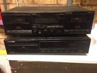 Pioneer stereo cassette and CD player.