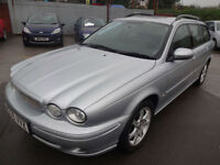 JAGUAR X TYPE 2.2D SPORT ESTATE~06/2006~6 SPEED MANUAL~5 DOOR ESTATE~MET SILVER