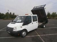 2013 63 FORD TRANSIT 2.2TDCi 100PS 350 LWB 6 SEATER DOUBLE CREW CAB TIPPER TRUCK