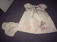 Baby girls Disney Minnie Mouse dress/ knickers 3-6 months