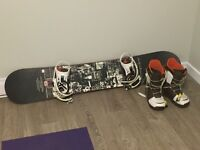 Ride Snowboard Set Up, Size 11 ½ Boots (Lightly used)