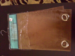 Long brown velour suede material curtain panel BNWT