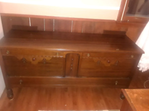 Antique solid wood buffet sideboard