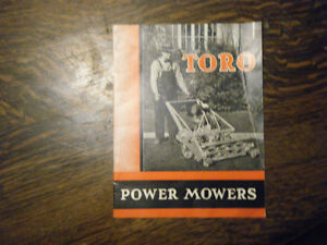 Vintage Toro Power Mowers Brochure