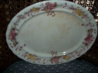 """17 1/2"""" by 13"""" oval platter"""