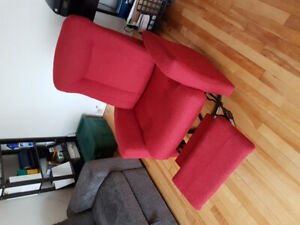 Fauteuil inclinable rouge